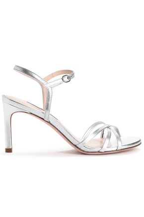 STUART WEITZMAN Metallic leather sandals