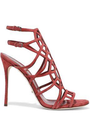 SERGIO ROSSI Puzzle Basic laser-cut suede sandals