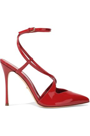 SERGIO ROSSI Bon Ton patent-leather pumps