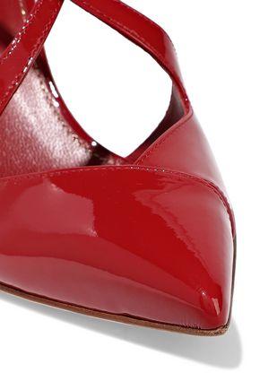 SERGIO ROSSI Bon Ton patent-leather slingback pumps