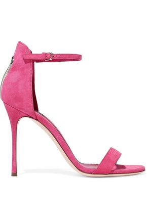 SERGIO ROSSI Cutout suede sandals