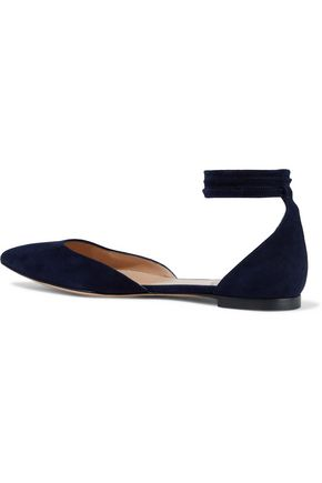 GIANVITO ROSSI Carla suede point-toe flats