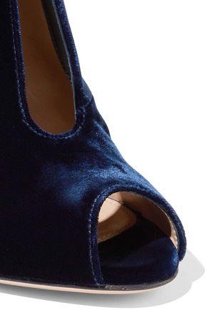GIANVITO ROSSI Vamp velvet ankle boots
