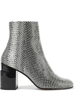 ROBERT CLERGERIE Keyla snake-effect leather ankle boots