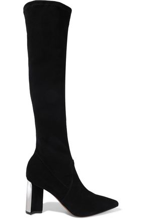 ROBERT CLERGERIE Kali stretch-suede knee boots