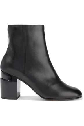 ROBERT CLERGERIE Keyla glossed-leather ankle boots