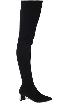 ROBERT CLERGERIE Saphia stretch-suede over-the-knee boots
