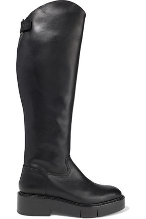 ROBERT CLERGERIE Canada leather platform knee boots