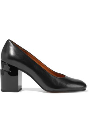 ROBERT CLERGERIE Kenneth snake-effect leather pumps