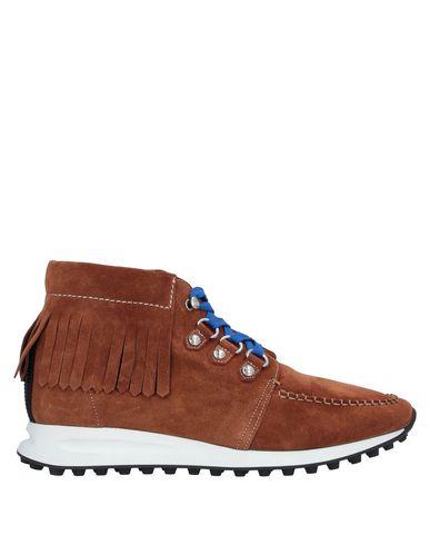 Купить Высокие кеды и кроссовки коричневого цвета