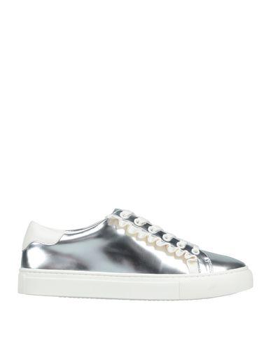 Купить Низкие кеды и кроссовки от TORY SPORT серебристого цвета