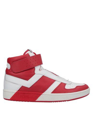 Купить Высокие кеды и кроссовки красного цвета