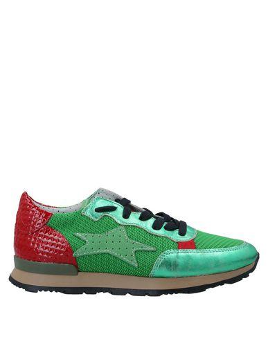 Купить Низкие кеды и кроссовки от ISHIKAWA зеленого цвета