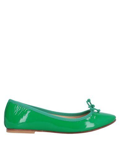 Купить Женские балетки  зеленого цвета