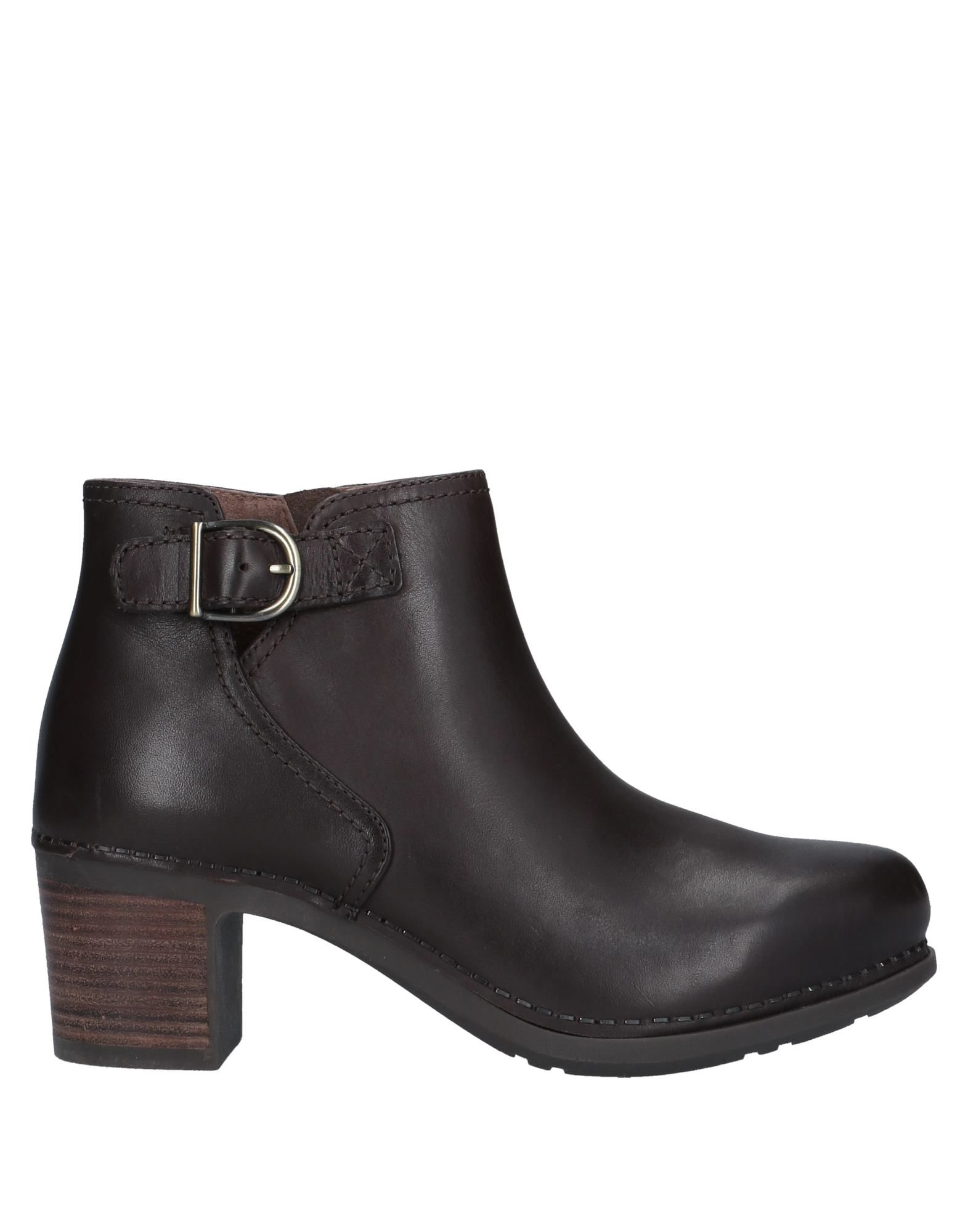 DANSKO Ankle boots. buckle, solid color, zip, round toeline, square heel, leather lining, rubber cleated sole, contains non-textile parts of animal origin. Soft Leather