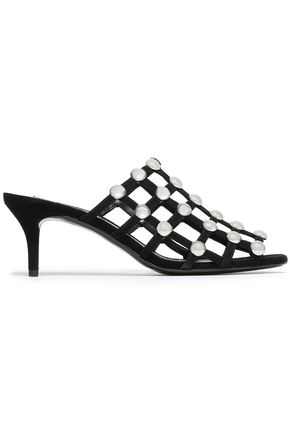 ALEXANDER WANG Sofia cutout studded leather mules