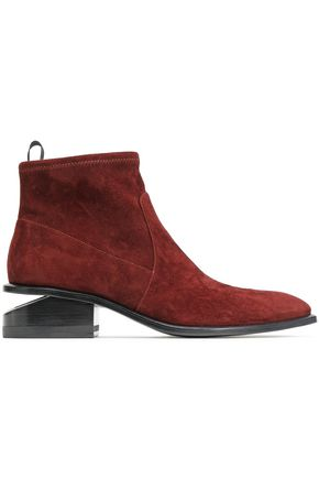 ALEXANDER WANG Koru stretch-suede ankle boots