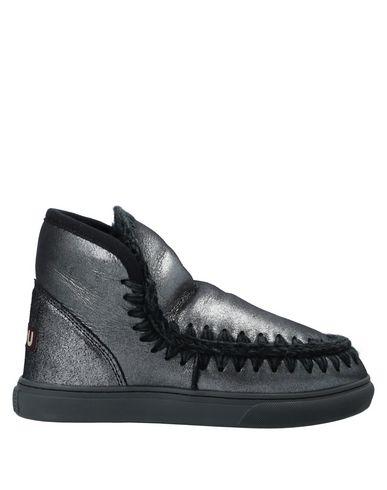 Купить Полусапоги и высокие ботинки от MOU серого цвета