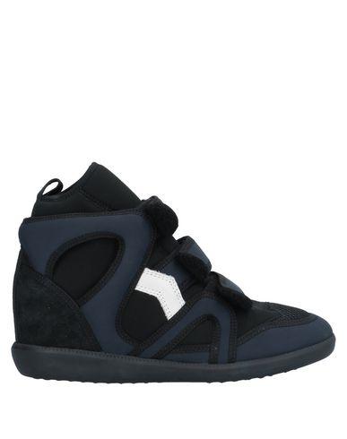 Купить Высокие кеды и кроссовки темно-синего цвета