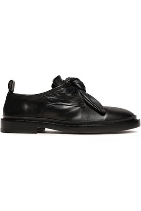JIL SANDER Knotted leather loafers