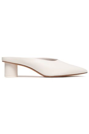 DIANE VON FURSTENBERG Leather mules