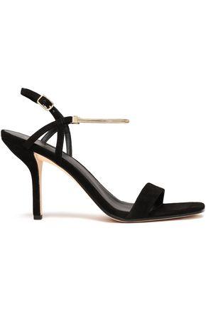 DIANE VON FURSTENBERG Frankie chain-trimmed suede slingback sandals