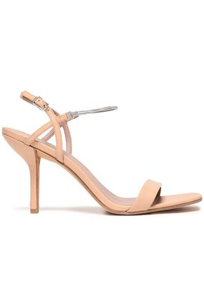 DIANE VON FURSTENBERG Frankie chain-trimmed leather slingback sandals