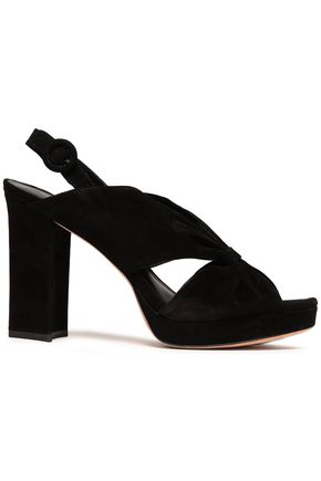 DIANE VON FURSTENBERG Knotted suede platform sandals
