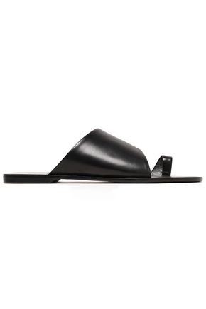 DIANE VON FURSTENBERG Leather slides