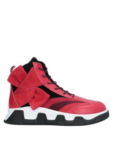 Купить Высокие кеды и кроссовки от DIBRERA BY PAOLO ZANOLI красного цвета