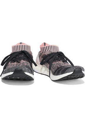 ADIDAS UltraBOOST Uncaged coated marled stretch-knit sneakers