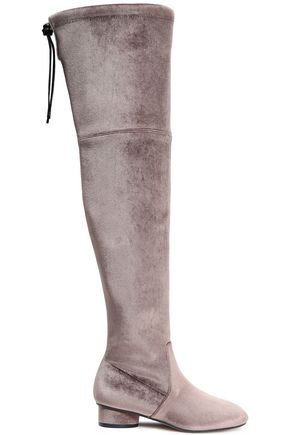 STUART WEITZMAN Velvet over-the-knee boots