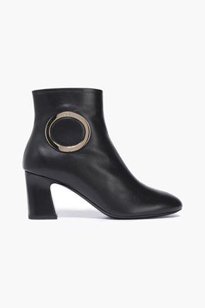 ROGER VIVIER Embellished leather ankle boots