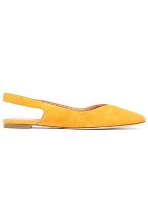 SIGERSON MORRISON Sunshine suede slingback point-toe flats