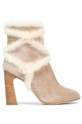 ROGER VIVIER Shearling ankle boots