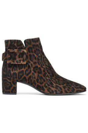 ROGER VIVIER Leopard-print suede ankle boots