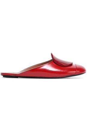 MARNI Appliquéd leather slippers