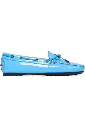 TOD'S Bow-embellished patent-leather loafers