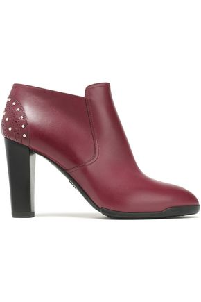 TOD'S Studded leather ankle boots