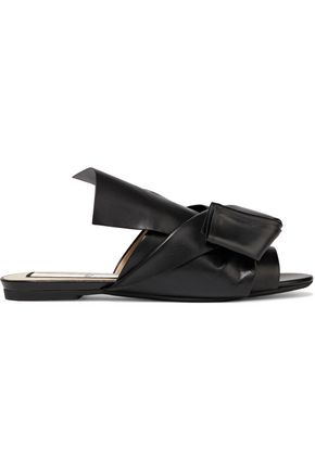 N°21 Knotted leather slides