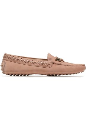 TOD'S Whipstitched suede loafers