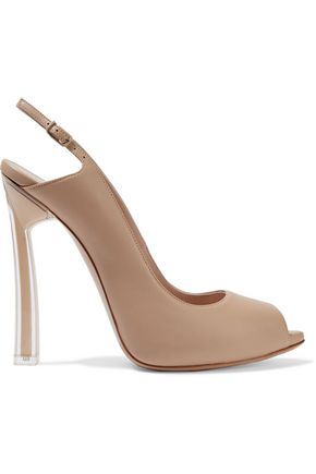 CASADEI Leather slingback sandals