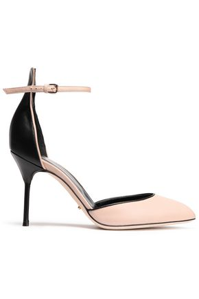 SERGIO ROSSI Two-tone leather sandals