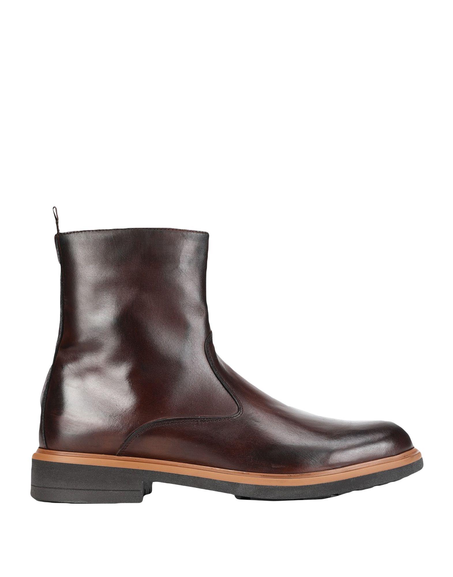 《セール開催中》LEONARDO PRINCIPI メンズ ショートブーツ ブラウン 45 牛革(カーフ) 100%