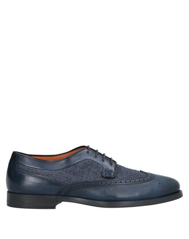 Купить Обувь на шнурках темно-синего цвета