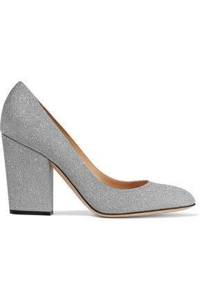 SERGIO ROSSI Virginia glittered leather pumps