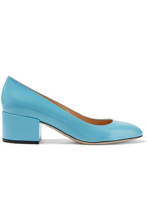 SERGIO ROSSI Virginia glossed-leather pumps