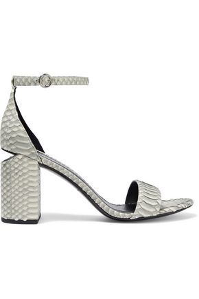 ALEXANDER WANG Abby cutout snake-effect leather sandals