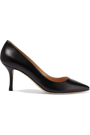 SERGIO ROSSI Secret textured-leather pumps