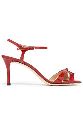 SERGIO ROSSI Knotted patent-leather sandals